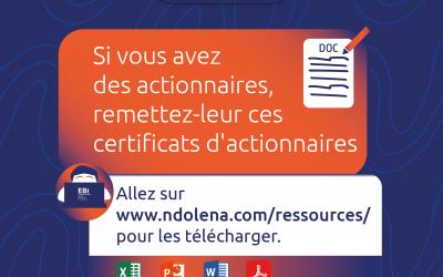 Ebi – Certificats d'actionnaires